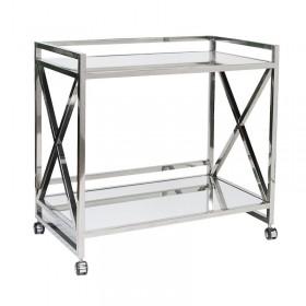 Gerard Stainless Steel Bar Cart