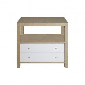 Hattie Natural Grasscloth Bedside Table