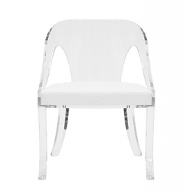 Jolie Acrylic & Linen Chair
