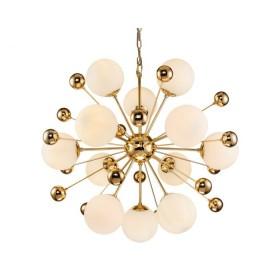 Orius Gold & White Glass Pendant Lamp