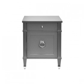Lily Grey Lacquer & Nickel Side Table