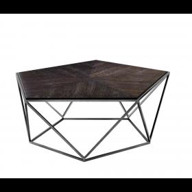 Pentagon Charcoal Oak Veneer Coffee Table