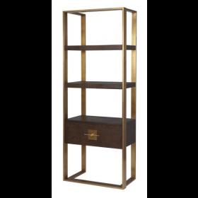 Ophir Dark Brown & Dark Brass Cabinet