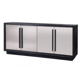 Camden Black Ash & Stainless Steel Buffet