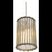 Eichholtz Tiziano Brass Lantern under lit