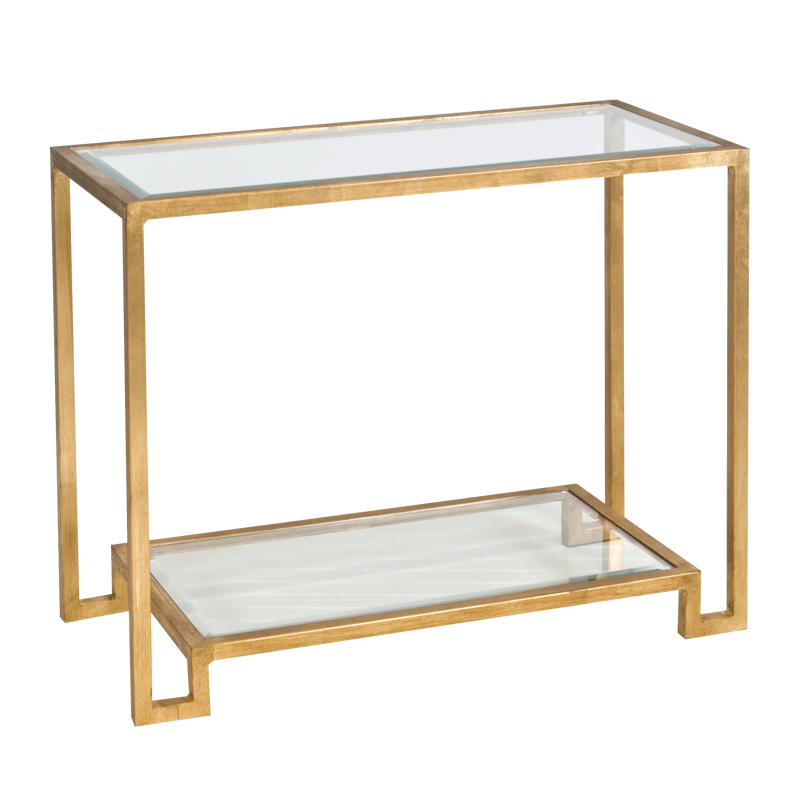 Lyle Gold Leaf Console Table. Worlds Away ...